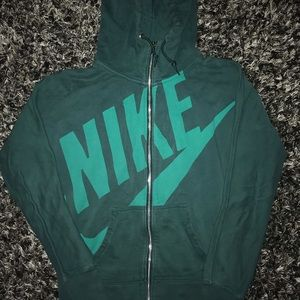 Women's Nike green zip up